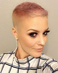 Instagram media by katierosehair - I popped into a barber shop today to get a legit bald fade! Then I accidentally toned it this blush tone, but I really like it!