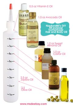 Naptural85′s DIY all purpose homemade Hair and Body Oil. Her Youtube Channel Has Been So Helpful And Amazing