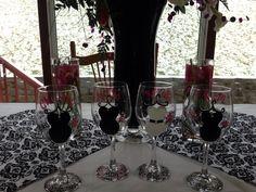 DIY Bride & BM's wine glasses for Zac & Kelli's wedding