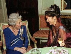 Alexandra Countess of Frederiksborg with Queen Ingrid of Denmark 1998