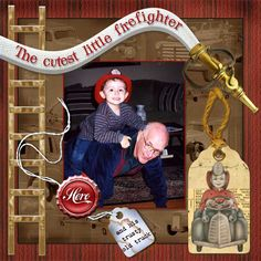 fireman scrapbook album | 2littlefirefighter