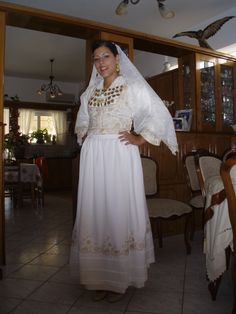 Cretan traditional wedding dress.