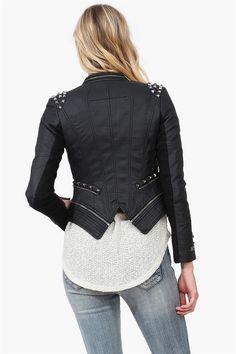 Penguin wing leather jacket