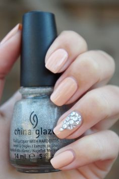 DIY Nail Art | Glamorous Nude ~ Beautyill | Beautyblog met nail art, nagellak, make-up reviews en meer!