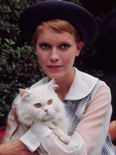 Portrait of Mia Farrow by Santi Visalli, 1968