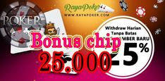 bonus deposit poker | idr 25.000 dari rayapoker