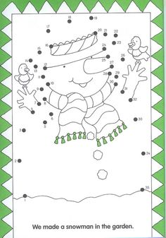 snowman, free printable, dot to dot