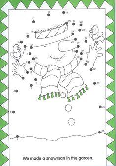 snowman, free printable, dot to dot Kindergarten Christmas Crafts, Christmas Math, Christmas Activities For Kids, Christmas Tree Themes, Noel Christmas, Christmas Books, Winter Activities, Snow Theme, Winter Theme