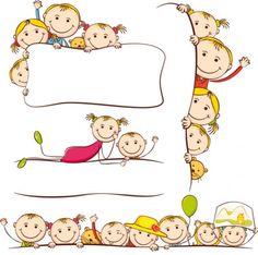cartoon drawings by children   vector