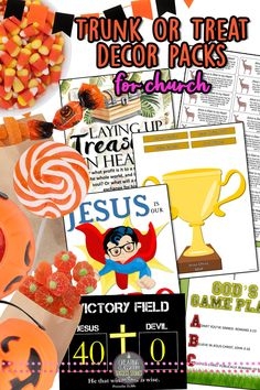 Trunk or Treat Ideas and Decor Packs for Church Bible Themes