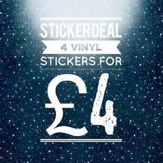 Sticker Deal - Discount Stickers - Any 4 for 4GBP - Vinyl Stickers - Halloween  Stickers