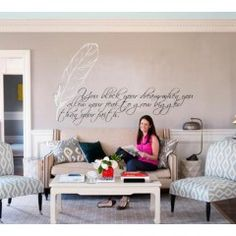 Wall writing sticker Quote #1 Writing Feather