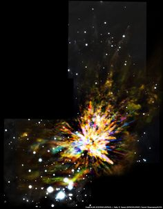 巨大赤ちゃん星が作りだした宇宙花火