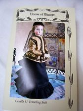"16"" French Fashion Doll  Traveling Suit, Blouse and Hat Pattern"