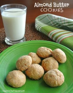 Just in time for dessert.  Almond Butter Cookies only have four ingredients.  Sweet and simple!