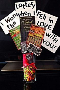 For+the+little+gambler+in+your+life,+surprise+him+with+this+bouquet+and+let+him+know+he's+won+the+lottery+by+winning+you+:)