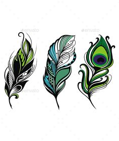 17 templates for your feather tattoo desired.de - 17 templates for your feather tattoo desired. Peacock Feather Tattoo, Feather Tattoo Design, Feather Art, Feather Tattoos, Tribal Feather, Bird Tattoos, Peacock Drawing, Feather Drawing, Feather Painting