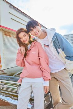 Doyeon & Cha Eunwoo for Polham 2019 SS collection. Korean Boys Ulzzang, Ulzzang Korea, Ulzzang Couple, Ulzzang Girl, Korean Girl, Kpop Couples, Cute Couples, Kpop Fashion, Korean Fashion