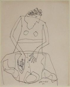 "topcat77: "" JEAN DUBUFFET WOMAN IRONING A SHIRT, DECEMBER 1951 """