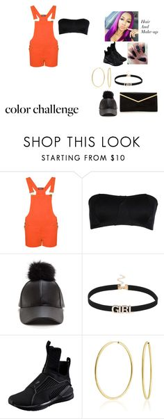 """""""Orange Is The New Black Part 2"""" by foreignasf162000 ❤ liked on Polyvore featuring WearAll, Port de Bras, Puma, Bling Jewelry, orangeandblack and colorchallenge"""