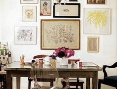 Foyer inspiration - mix of prints/art