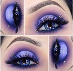 cut crease makeup - doll eye makeup look - cut crease - eyeshadow - eyeshadow looks - purple eyeshadow look - makeup looks - purple cut crease eyeshadow - gorgeous makeup looks - icy lavender makeup look -eyeshadow ideas - Eye Makeup Glitter, Eye Makeup Cut Crease, Purple Eyeshadow, Eyeshadow Makeup, Eyeshadow Palette, Makeup Brushes, Makeup Remover, Cream Eyeshadow, Gel Eyeliner