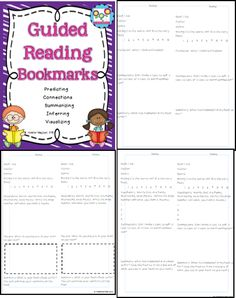 FREE! Guided Reading Bookmarks! Great for guided reading groups, independent centers, literature circles and more! #bookmarks #guidedreading #reading