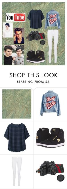 """""""A Dez Outfit"""" by maydoll on Polyvore featuring High Heels Suicide, Uniqlo, DC Shoes, Frame Denim, American Eagle Outfitters and Beautiful People"""