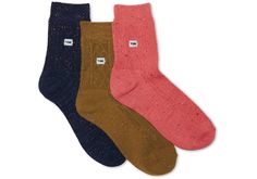 3 Pack Cable Knit Ankle Socks | TOMS