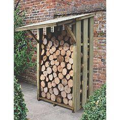 £170 Forest Flip Roof Log Store - Small   Log Store   Screwfix.com