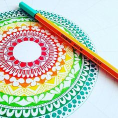Zentangle colors and stabilo