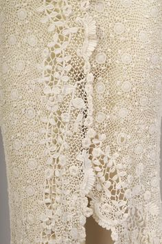 Edwardian Irish Crochet Lace Dress
