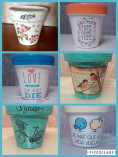 Flower Pot Art, Flower Pot Design, Clay Flower Pots, Painted Flower Pots, Painted Pots, Clay Pots, Flower Crafts, Diy Bottle, Bottle Crafts