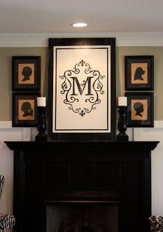 Dollar Store Decor. I guess the monogram is a flag from Bed Bath and Beyond.