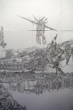 Bartlett School of Architecture, Summer Show Drawing David McGowan 2011