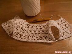 Crochet Baby Dresses 64663 how to make a top down vest - La Grenouille Tricote Crochet Bolero, Crochet Cross, Crochet Jacket, Crochet Cardigan, Baby Cardigan, Flower Crochet, Cardigan Pattern, Thread Crochet, Irish Crochet