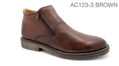 AC123-3 Brown copy Leather Shoes, Chelsea Boots, Safari, Walking, Footwear, Brown, Men, Fashion, Leather Dress Shoes