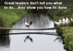 Great leaders don't tell you what to do... they show you how its done