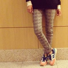 Plaid Pants, sneaker, newbalance,2013AW
