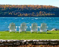 Best Seats in the House! by Deborah Thatcher on Capture Door County // Get your front row seats to view a spectacular Fall  Color Show while the warm sun is still shining, the leaves haven't all  fallen, and the bay hasn't frozen over!