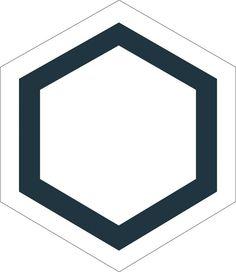 H20M030  format 20 cm #Carreauxciment #Hexagones #Noir #Blanc #Carrelage
