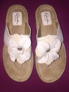 clarks artisan white sandals