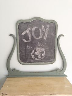 Kitchen Scale chalkboard frame