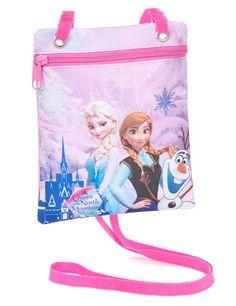 Bolso bandolera Frozen™: Este bolso para niña tiene licencia oficialFrozen™. La parte trasera es rosa y la parte delantera tiene estampado…