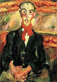 L'homme au le foulard rouge, 1921, Chaim Soutine