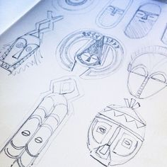 Mask #sketches in pencil -- #drawn #drawing #drawings #sketch #sketching #sketches #sketchbook #mask #masks #pencilsketch #art #artist