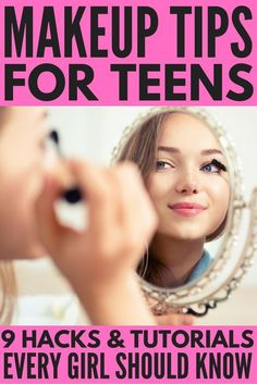 Makeup tips for teens. Whether you're looking for tips to apply natural makeup for school, want to know how to apply mascara, need tips for applying makeup for glasses, want to know how to make your eyes look bigger, or need the best concealer tips to kind acne and imperfections, we've got you covered. We're sharing our favorite makeup tips, tutorials, and products for a gorgeous DIY look you can do on the daily!