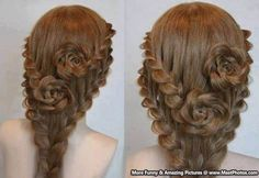 Beautiful Hairstyle – Flowers In Hairs
