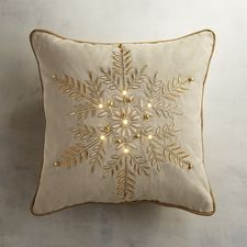 LED Light-Up Μαύρο Μαξιλάρι Snowflake