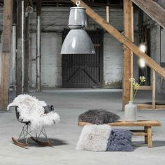 Luxury Sheepskin rugs add cosiness and luxury to modern rustic interior | Notonthehighstreet